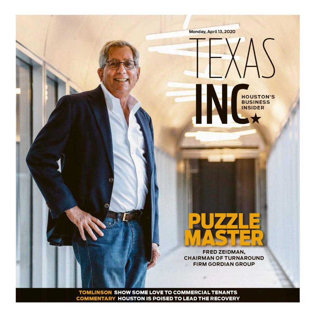Houston Chronicle Cover Fred Zeidman